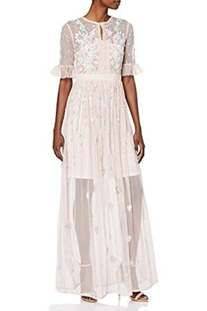 Frock and Frill Women's Fillippa Short Sleeve Embellished Maxi Dress Party