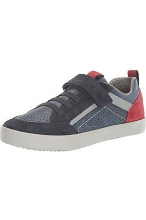 Geox Boys' J Kilwi E Low-Top Sneakers, (Navy/Dk C4244)