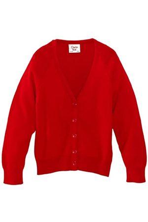 Charles Kirk Coolflow Unisex Boy's and Girls School Cardigan Scarlet C30 IN