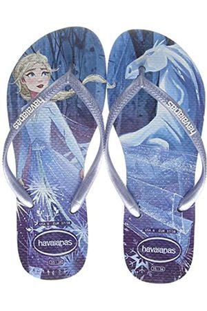 Havaianas Girls' Slim Frozen Flip Flops, ( /Snowflakes 4376)