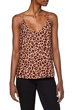 Scotch&Soda Women's Printed Jersey Tank Top with Woven Front Panel Vest