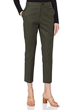 warehouse Women's Compact Cotton Trousers Pants