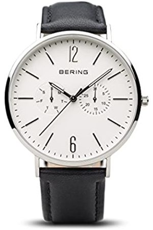 Bering Mens Analogue Quartz Watch with Leather Strap 14240-404
