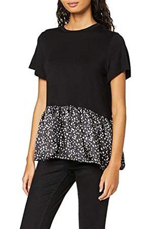 New Look Women's T Markmaking Spot Satin Peplum Shirt