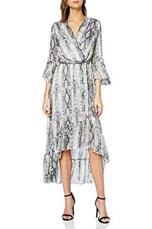 New Look Women's Go Ec Snake Glit Wrap Ruf Dres Casual Dress