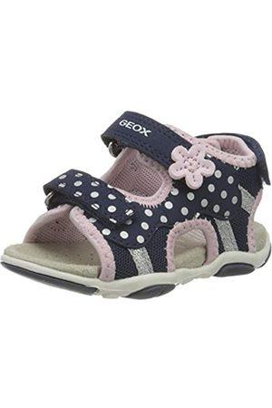 Geox Baby Girls' B Sandal AGASIM D Open Toe, (Navy/ C0694)