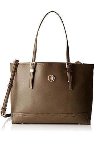 Tommy Hilfiger Womens Honey Med Tote Canvas and Beach Tote Bag (Dark Olive)