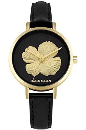KAREN MILLEN Womens Analogue Classic Quartz Watch with Leather Strap KM126B