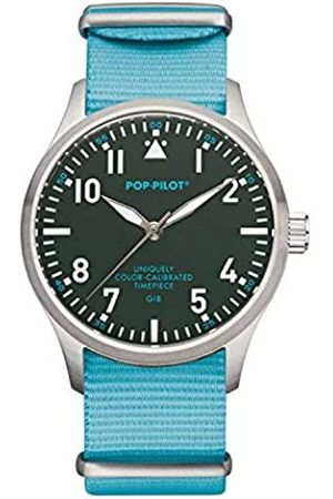 Pop-Pilot Unisex GIB Quartz Watch with Dial Analogue Display and Nylon Strap