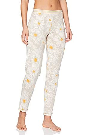 Skiny Women's Damen Pyjama Hose Lang Earth Sleep Bottoms