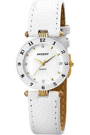 Akzent Womens Analogue Quartz Watch with Leather Strap SS7302000014