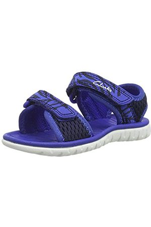 Clarks Boys' Surfing Tide T Closed Toe Sandals, (Navy Combi Navy Combi)