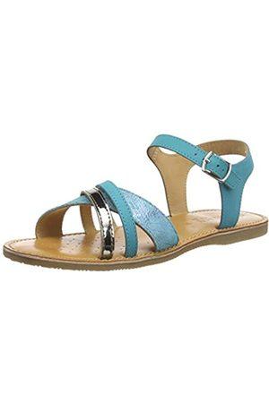 Geox Girls' J Sandal EOLIE C Open Toe, Turquoise (Turquoise C4015)