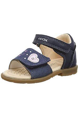 Geox Baby Girls' B VERRED D Open Toe Sandals, (Navy C4002)
