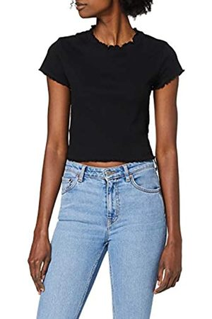 Urban Classics Women's T-Shirt Ladies Cropped Rib Tee
