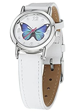 Jo for Girls Blue Butterfly Girl's Quartz Analogue Watch with Leather Strap