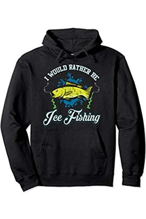 Tee Styley I Would Rather Be Ice Fishing Fisherman Tournament Men Women Pullover Hoodie