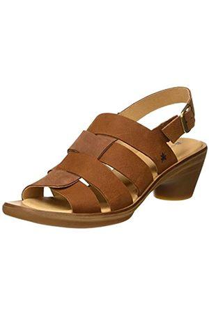 El Naturalista Women's N5358 Pleasant-LUX Suede Aqua Open Toe Sandals, (Wood Wood)