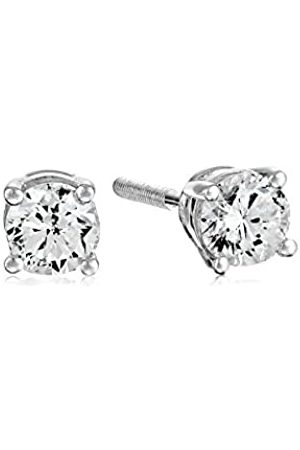 Amazon Collection Certified 14k Gold Diamond with Screw Back and Post Stud Earrings (1/3cttw, J-K Color