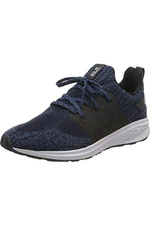 Jack Wolfskin Men's Coogee Knit Low M Top Sneakers, (Dark /Ocean Wave 1196)