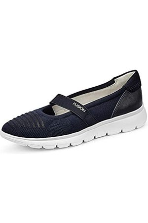 ARA Women's Porto Closed Toe Ballet Flats, (Blau 02)