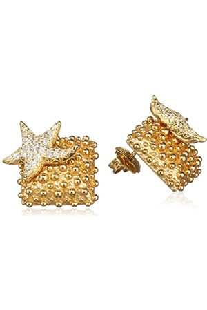 MISIS Moorea Women's Stud Earrings 925 Sterling Silver Gold-Plated with Zirconia 2 CM-Or09201