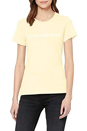 Calvin Klein Women's INSTITUTIONAL Logo Slim FIT TEE T-Shirt