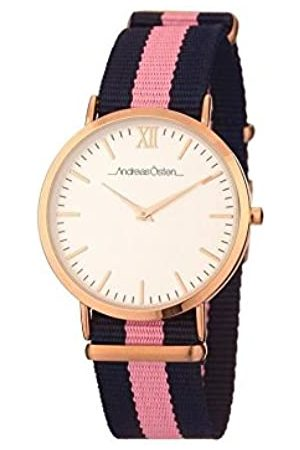 Andreas Osten Unisex Adult Analogue Quartz Watch with Nylon Strap AO-10