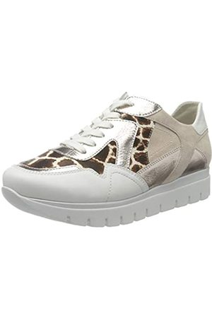 Semler Women's Silvia Trainers, (Weiss-caffee-Puder-Creme 186)
