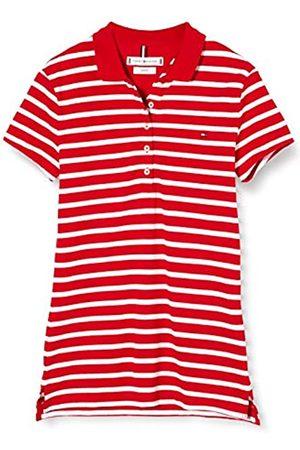 Tommy Hilfiger Women's Short Sleeve Slim Polo Stripe Shirt, (Breton STP/Primary 0Ey)