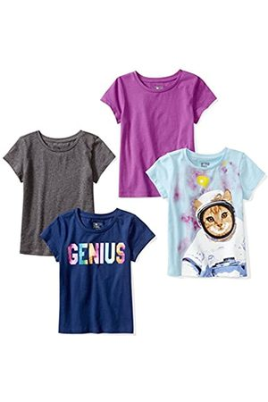 Spotted Zebra Amazon Brand - 4-pack Short-sleeve T-shirts Space, L