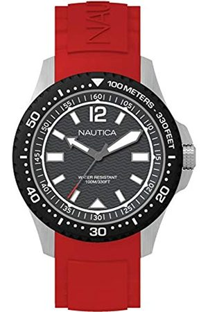 Nautica Mens Analogue Quartz Watch with Silicone Strap NAPMAU003