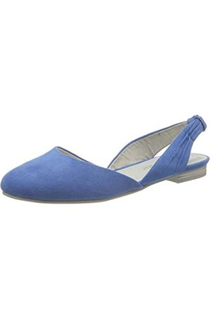 Marco Tozzi Women's 2-2-29407-24 Sling Back Sandals, (Azure 883)