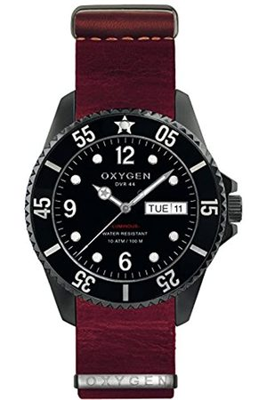 Oxygen Moby Dick 44 Mens Quartz Watch with Dial Analogue Display and Leather Strap EX-D-MBB-44-NL-PL