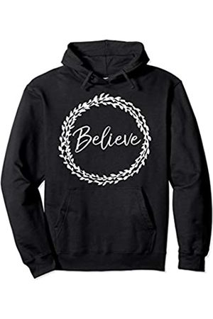 P37 Design Studio Jesus Shirts Bible Verse Quote Christian Floral Gift for Women Believe Pullover Hoodie