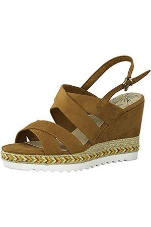 Marco Tozzi Women's 2-2-28707-24 Ankle Strap Sandals, (Cognac 305)
