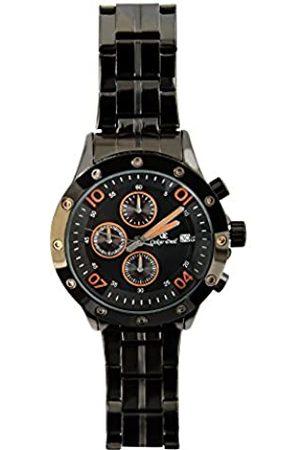 Oskar Emil Men's Quartz Watch with Dial Chronograph Display and Stainless Steel Bracelet Kansas /Orange