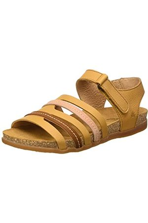El Naturalista Women's N5247 Multi Leather Zumaia Open Toe Sandals, (Curry Mixed Curry Mixed)