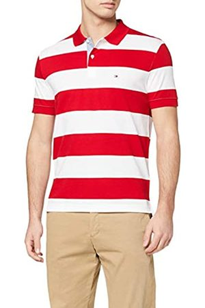 Tommy Hilfiger Men's Block Stripe Regular Polo Shirt, (Primary / 0EV)