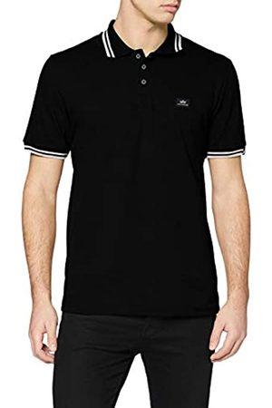 ALPHA INDUSTRIES Men's 166602 95 Schwarz/Weiß Polo Shirt, /