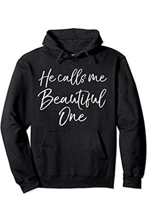 P37 Design Studio Jesus Shirts Christian Faith Quote for Women He Calls Me Beautiful One Pullover Hoodie