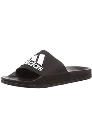 adidas Boys'' Adilette Shower Beach & Pool Shoes, FTW Bla/Negbás 000