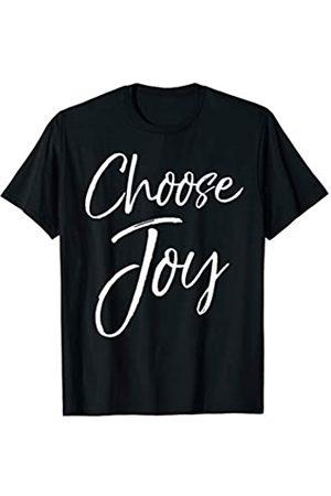 P37 Design Studio Jesus Shirts Christian Joyful Quote Cute Jesus Gifts for Women Choose Joy T-Shirt