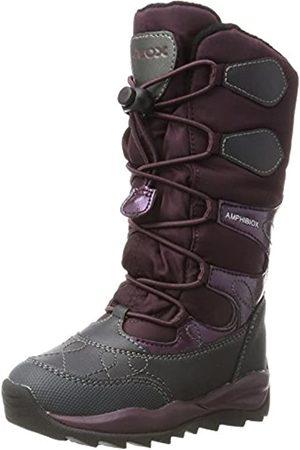 Geox J Orizont B Girl Abx C, Girls' Snow Boots, (Dk Burgundy)