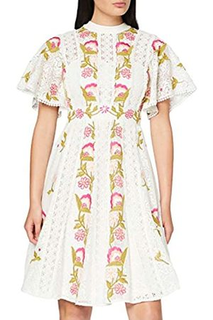 Frock and Frill Women's Isabella Lace Floral Embroidered Skater Dress Party ( #FFFACD)