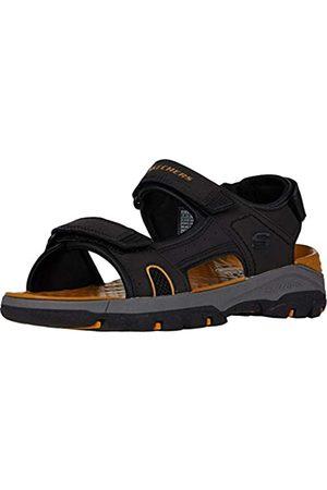 Skechers Men's TRESMEN HIRANO Open Toe Sandals, ( Synthetic Blk)