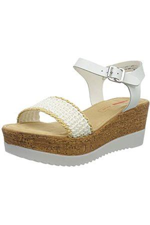 s.Oliver Women's 5-5-28327-24 Ankle Strap Sandals, ( /Raffia 125)