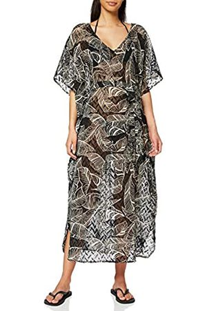 Dorothy Perkins Women's and Cream Leaf Print Tie Detail Cover Up Swimwear