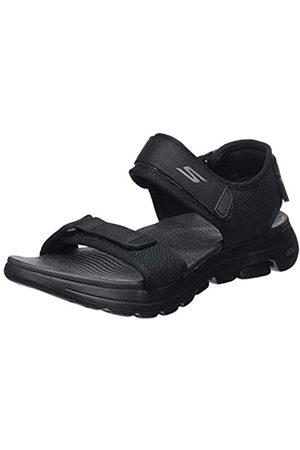 Skechers Men's GO Walk 5 Open Toe Sandals, ( Synthetic/Trim BBK)