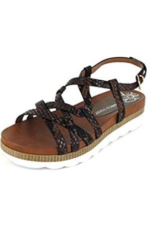 Marco Tozzi Women's 2-2-28418-24 Ankle Strap Sandals, (Dk Struc 315)